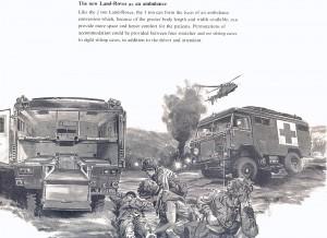 Illustratorens bud på en kommende ambulance.