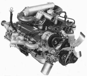 En tidlig Rover V8 baseret på Buick 215. Fremstillet af Land-Rover fra 1965.